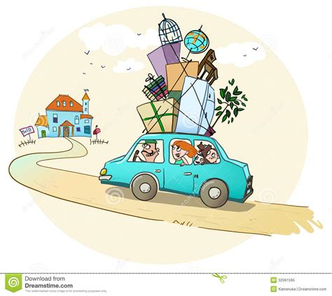 moving a dog to a new house moving in a new home happy family is on the way t royalty free stock photo image