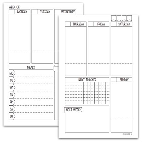 13 Free Bullet Journal Printables We Re Living For In 2019 Free Bullet Journal Templates