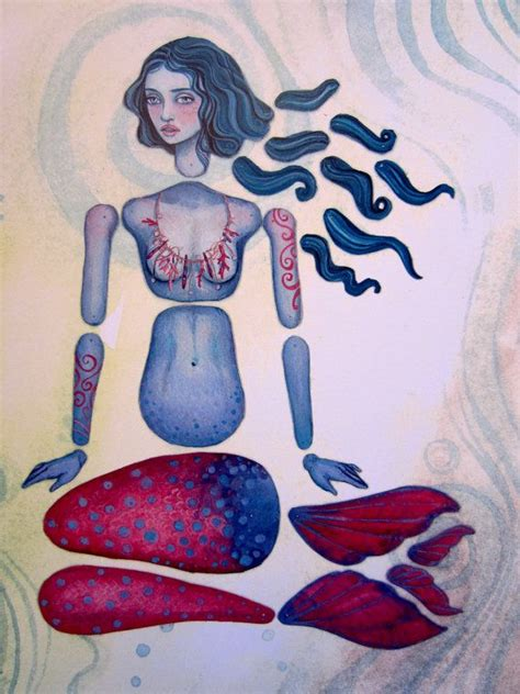printable jointed paper doll jointed mermaid paper doll kit
