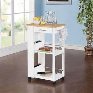 small kitchen rolling cart island storage butcher block