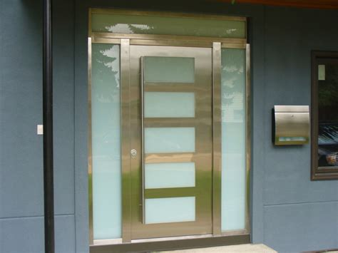 Gallery Of Modern Exterior Doors By Milano Doors Milano Stainless Steel Exterior Door