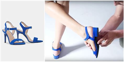 flat shoes that turn into heels tired now you can turn your high heels into flats in