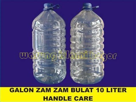 Dijamin Zam Zam Water 330ml jual botol plastik jerigen 10 liter bening bulat kemasan