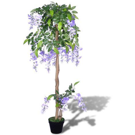 pianta glicine vaso glicine artificiale con vaso 120 cm giardino e piscine
