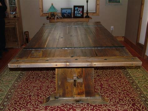 hand crafted barnwood dining table  bluebuck woodworking