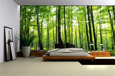 bedroom murals uk bedroom forest wallpaper murals by homewallmurals co uk