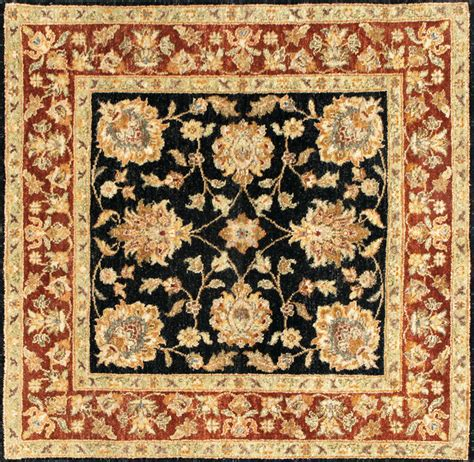 Wool Area Rugs 5x7 with Rugsville Ziegler Wool Black Rust Rug 10293 5x7 Traditional Area Rugs By Rugsville