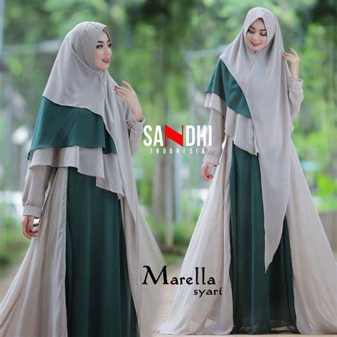 Gamis Faisa Syari Busana Muslim By Sandhi gaya muslim modern baju gamis terbaru marella syari by