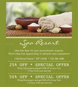 spa coupon template 21 coupon flyer templates free sle exle format