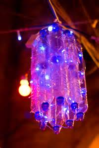 led lights out file plastic bottles and led lights repurposed as a