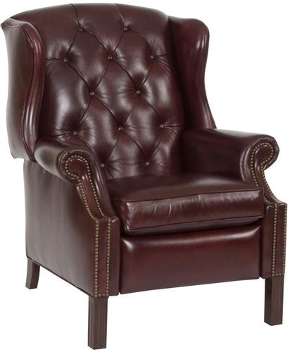 leather wing back recliner savoy arles brown leather wing chair recliner