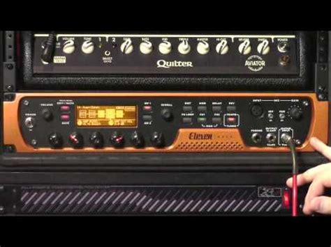 Eleven Rack Vs Axe Fx by Avid Eleven Rack With Ground Pro Demo Sweetwa