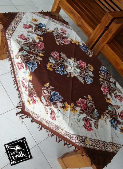 Taplak Meja Tamu Kerancang 90cm 2 taplak meja tamu batik cap semi tulis taplak meja batik murah batikunik