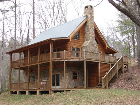 Two Storey Cabin by Murphy Nc Brasstown Creek Is The Site Of Two New Log