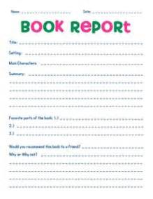 Do My Book Report Book Report Sample Elementary School Book Report Format