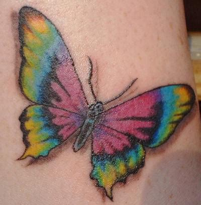 tie dye tattoo a bright and colorful design of a tie dye butterfly