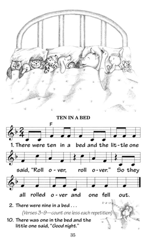 Ten In The Bed Lyrics by Wee Sing Wee Sing Silly Songs