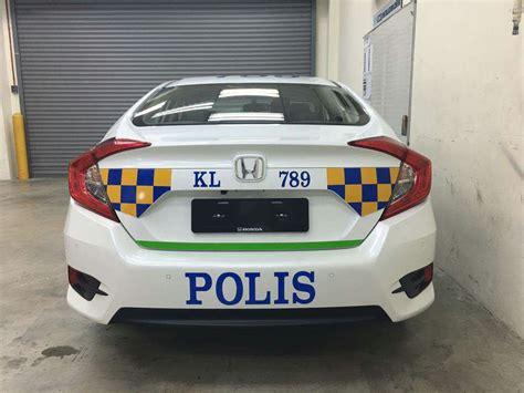 kereta honda civic polis guna honda civic 2016 sebagai kereta peronda image