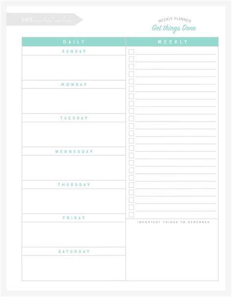 printable weekly planner with to do list organizational printables to streamline your to do lists