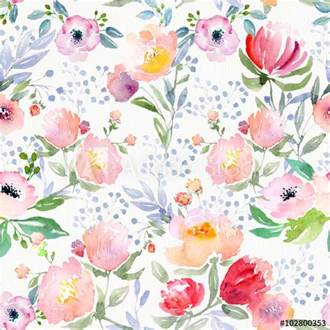 watercolor flower pattern wallpaper watercolor floral pattern buy this stock illustration