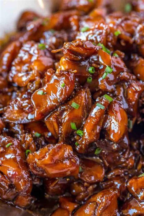 easy bourbon chicken dinner then dessert