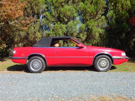 maserati hardtop convertible 1989 chrysler tc by maserati 2 seat convertible