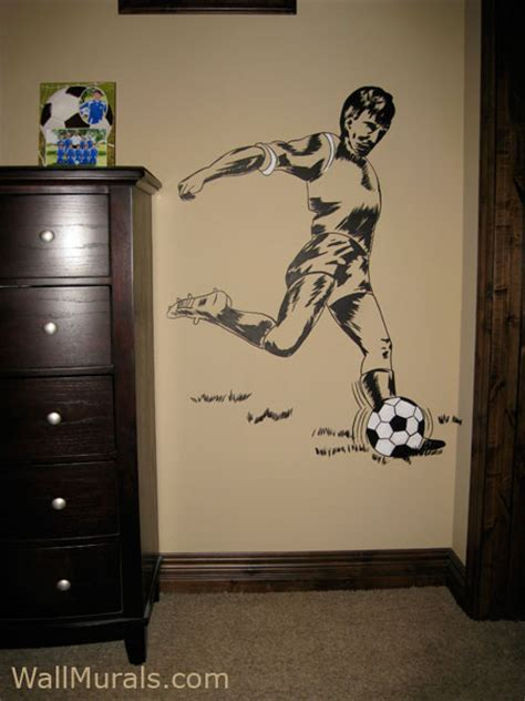 soccer wall mural sports wall murals by colette sports themed rooms