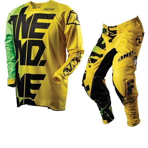 motocross jersey and combo one industries 2012 defcon ripper yellow mx motocross