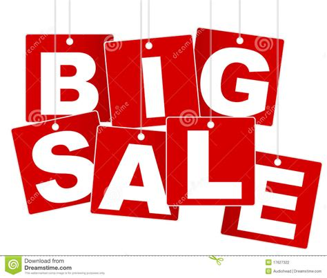 large for sale big sale sign stock photography image 17627322