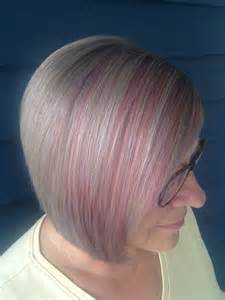 pictures of grey hairstyles with pink highlights candy pink highlights silver grey hair hair pinterest