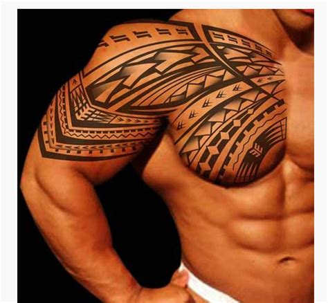 shoulder chest tribal tattoos 14 shoulder tribal tattoos