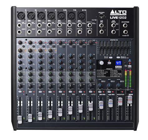 Mixer Alto Live 1202 alto live 1202 12 ch pa mixer w usb dsp effects pssl