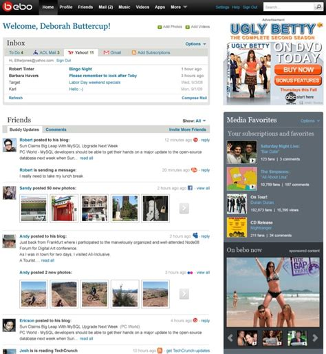 Bebo Search For Exclusive Screenshots Of Bebo 2 0 Launching In February Twx Business Insider