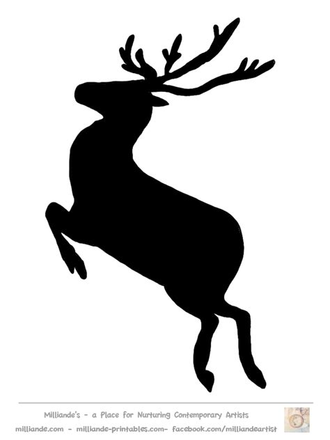 Reindeer Silhouette Free Download Clip Art Free Clip Art On Clipart Library Reindeer Silhouette Template