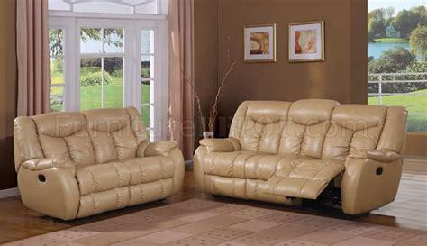 Beige Leather Living Room Set Beige Bonded Leather Upholstered Modern Living Room Set