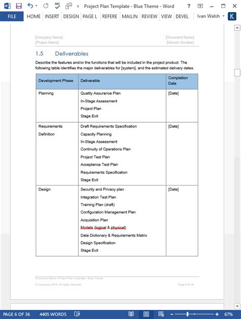 project plan templates  page ms word  excel spreadsheets page