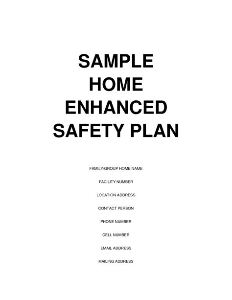 home safety plan unique group home business plan 9 home fire safety plan