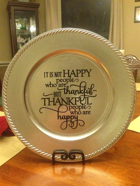 decorative charger plates ideas thankful vinyl decorated charger plate