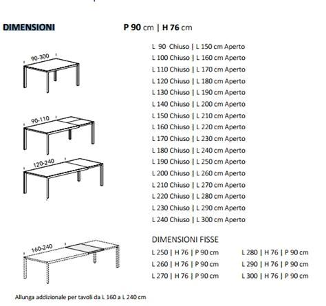 tavoli misure tavolo su misura allungabile finitura al cione ral