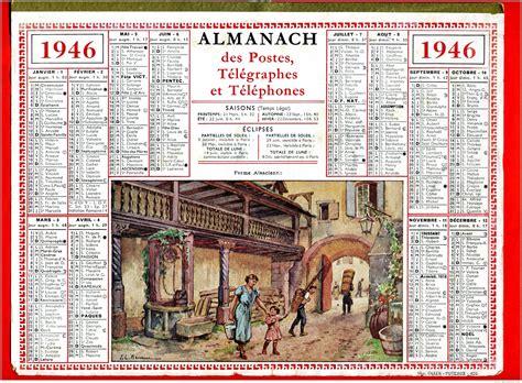 Calendrier De 1946 Calendrier Poste 1946 Ferme Alsacienne Modele Economique