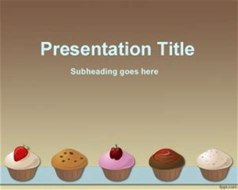 Cupcakes Recipe Powerpoint Template Powerpoint Recipe Template