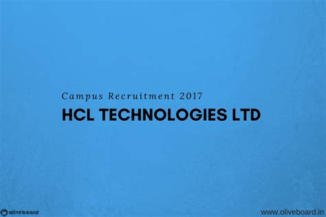 Hcl Mba by Hcl Cus Recruitment Process Eligibility For Freshers