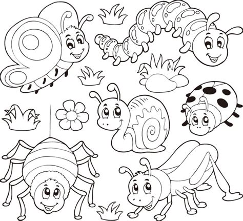coloring page of birds and insects 凶猛的动物简笔画 动物简笔画大全步骤图 动物简笔画大全带颜色 儿童画画大全简单漂亮 小动物简笔画 海底世界简笔画