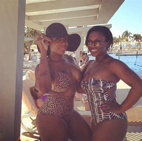birthday getaway fantasia turns 30 in cancun with kandi burruss kandi todd vacation photos kandionline com