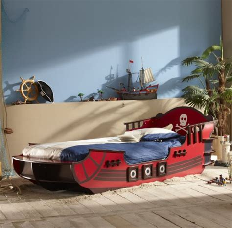 hänge nachttisch kinderbett piratenschiff seer 195 164 uber piraten boot bett rot