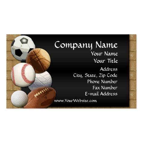 free sports themed business card templates liv og din glede business cards design