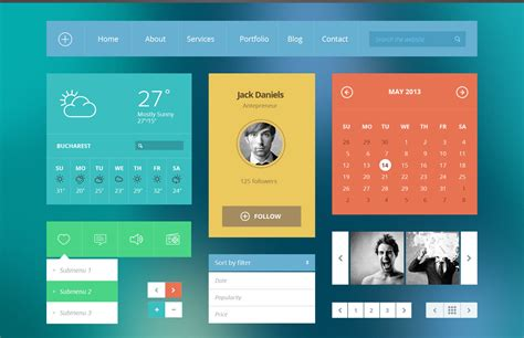 ui layout flat ui kit modern touch