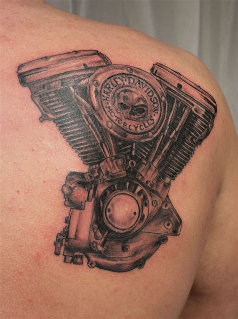 motor tattoos 24 harley engine tattoos