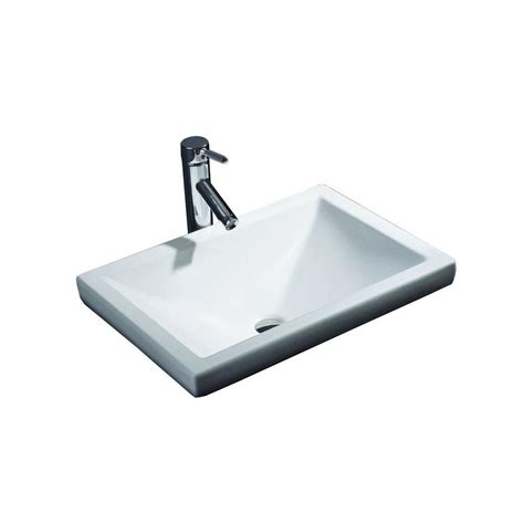 Recessed Sinks by Filament Design Cantrio Semi Recessed Bathroom Sink In