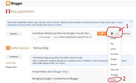 membuat blog gratis dengan domain sendiri com setting blogspot dengan domain sendiri tutorial web